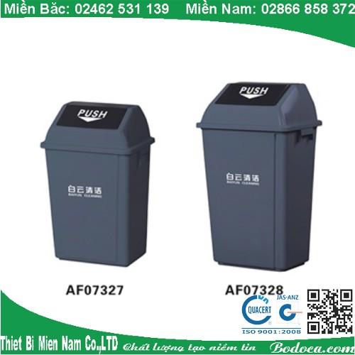 Thùng rác nhựa nắp lật 60 Lít